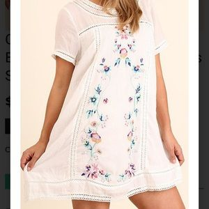White Umgee fully lined dress